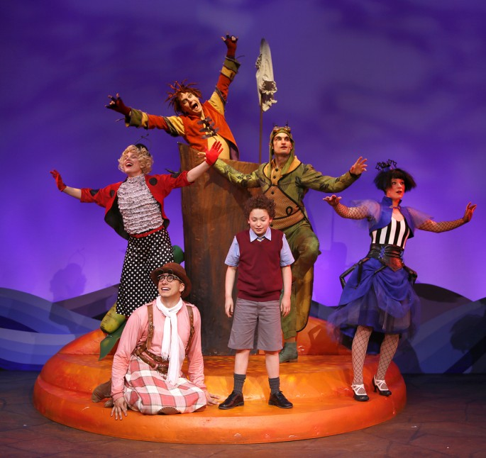 "The cast of Carousel Theatre's ""James and the Giant Peach"", presented through Jan. 4, 2015."