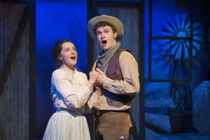 Alexandra Wever as Laurey & Owen Bishop as Curly. David Cooper photo.