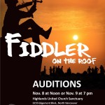 "Auditions for ""Fiddler on the Roof"""
