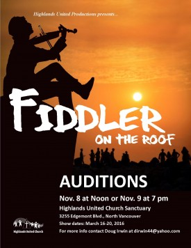 """Auditions for """"Fiddler on the Roof"""""""